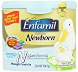 Enfamil Newborn Infant formula Tub, 0-3 Months, 23.4-Ounce