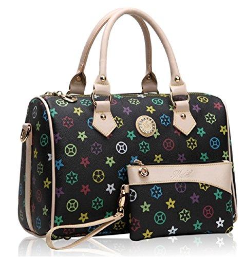 getthatbagr-womens-crystal-monogram-print-shoulder-bag-barrel-handbag-black