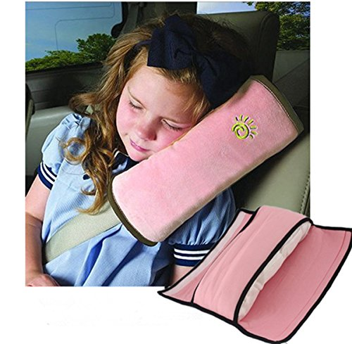 Auto Seat Belt Pillow Car Safety Belt Protect, Shoulder Pad, Adjust Vehicle Seat Belt Cushion For Kids, Pink (Micro Car Seat Cover compare prices)