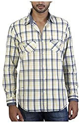 Repique Men's Botton Front Cotton Shirt(Seb-114,Blue ,X-large)