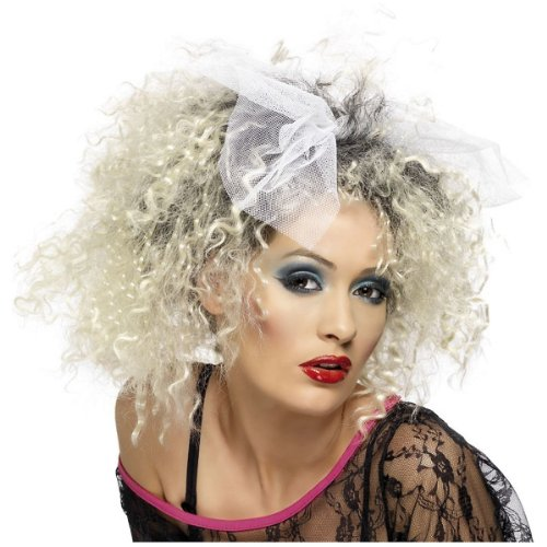 Smiffy's 80's Wild Child Wig, Blonde/Black, One Size