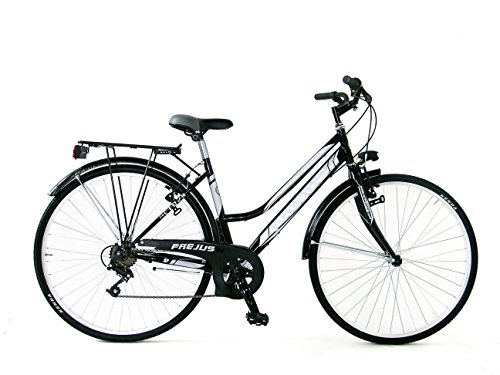 Frejus  28 Trekking Bicicletta Donna, Nero