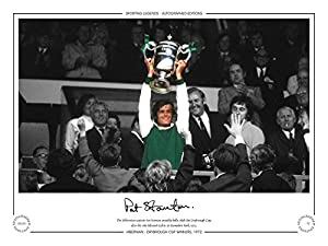 Hand Signed Limited Edition Photo Hibernian 1972 Pat Stanton from Sporting Legends (I) Ltd