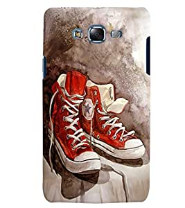 Citydreamz Red Shoes/Boys/Abstract Hard Polycarbonate Designer Back Case Cover For Samsung Galaxy J5