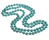 TreasureBay Beautiful 3 IN 1 10mm natural Turquoise Beaded Necklace Length 120cm47 Necklace Presented in a Gift Box
