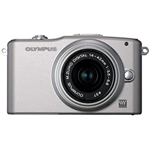 Olympus PEN E-PM1 12.3MP Interchangeable Lens Camera with CMOS Sensor, 3-inch LCD and 14-42mm II Lens (Silver) (Old Model)