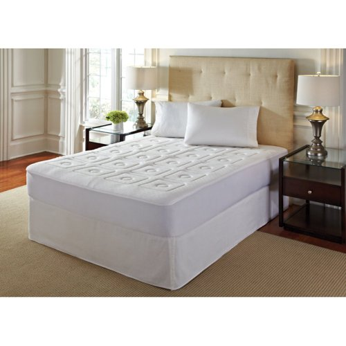 Rio Home Fashions Rio Home Fashions 1 In. Memory Foam Mattress Topper, White, Memory Foam, California King front-839568