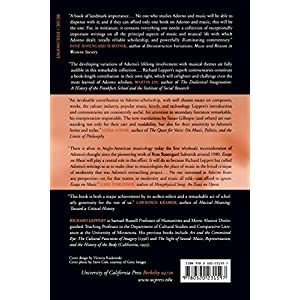 Essays on Music by Theodor W Adorno � Reviews, Discussion