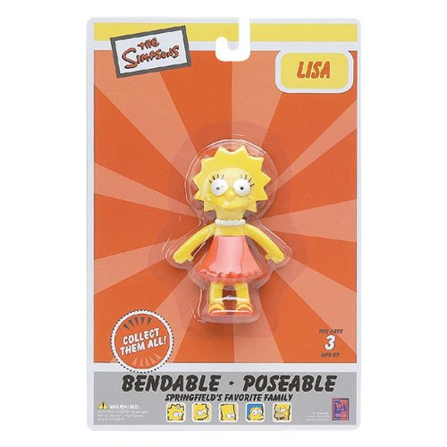 Lisa Simpson Bendable Figure - 1