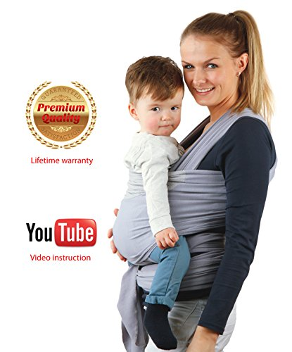 Baby-Carrier-Wrap-For-Newborns-and-Baby-Sling-Lutob-Care-Gain-New-Breathability-With-Innovative-Mesh-Panel-Natural-Cotton-Baby-Carrier-Wrap-Elastic-Material