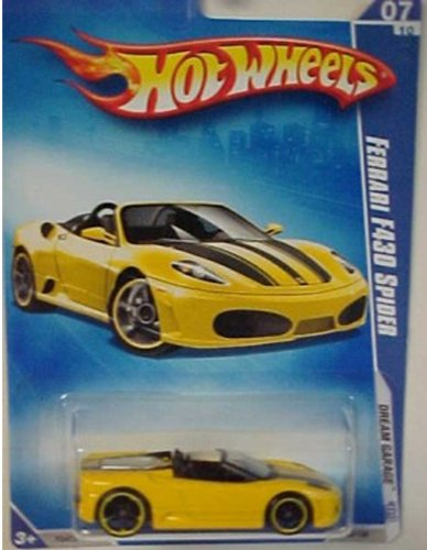 Hot Wheels 2009 Ferrari F430 Spider (yellow) Dream Garage 153/190, 1:64 Scale.