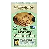 Earth Mama Angel Baby Organic Morning Wellness Tea, 16 Teabags/Box  (Pack of 3)