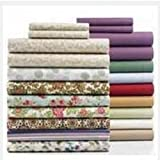 Fine Linens 200T Watercolor Floral Twin Sheet Set