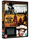 Westerns Triple -True Grit (1969), Once Upon a Time in the West, Shane [DVD]