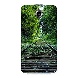 Stylish Beautiful Track Green Back Case Cover for Nexsus 6