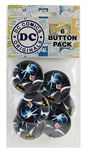 Button set DC Comics Batman Profile 6 Individual Loose Buttons, 1.25""