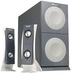 Altec Lansing 2100 2.1 Computer Speakers (3-Speaker, Black & Silver)
