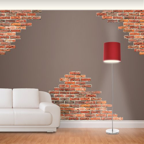 Funk 39 n artsy with brick wall decals funk this house for Brick wall mural decal