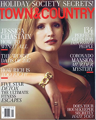 TOWN & COUNTRY December - January 2018 大きい表紙画像