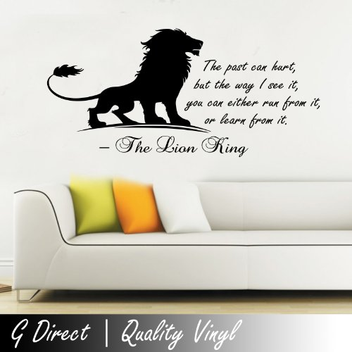 The Lion King Inspirational Wall Sticker Quote Kids Bedroom Playroom Home Mural 100X55 front-441716