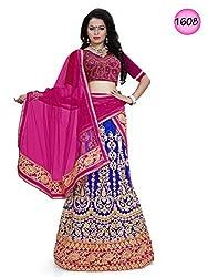 Shubhlaxmi Fashions Women's Net Lehenga ( Blue )
