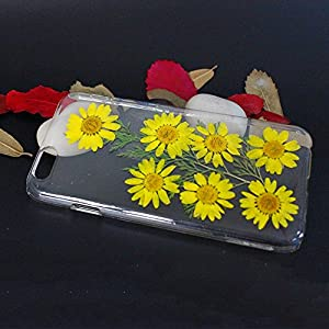 Beautiful Real Flowers Clear Slim Unique Design Phone Case for iPhone 6(12)