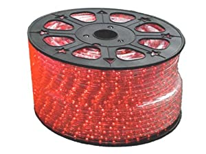 45 9 feet red led round rope lights 3 8 inch diameter 110 volts string lights. Black Bedroom Furniture Sets. Home Design Ideas