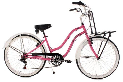 ks cycling damen fahrrad beachcruiser melba rosa 26 730b vicsunshope. Black Bedroom Furniture Sets. Home Design Ideas