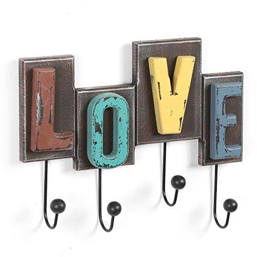 Multicolored Rustic Finish Wood Love Design Decorative