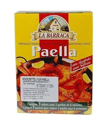 Paellagewürz mit Safran (3 Beutel) / Especias para paella con azafran (3 Sobres) von Azafranes La Barraca, S.L. auf Gewürze Shop