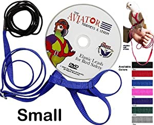 The AVIATOR Bird Harness & Leash - Small - Silver