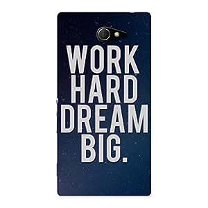 Impressive Hard Dream Back Case Cover for Sony Xperia M2