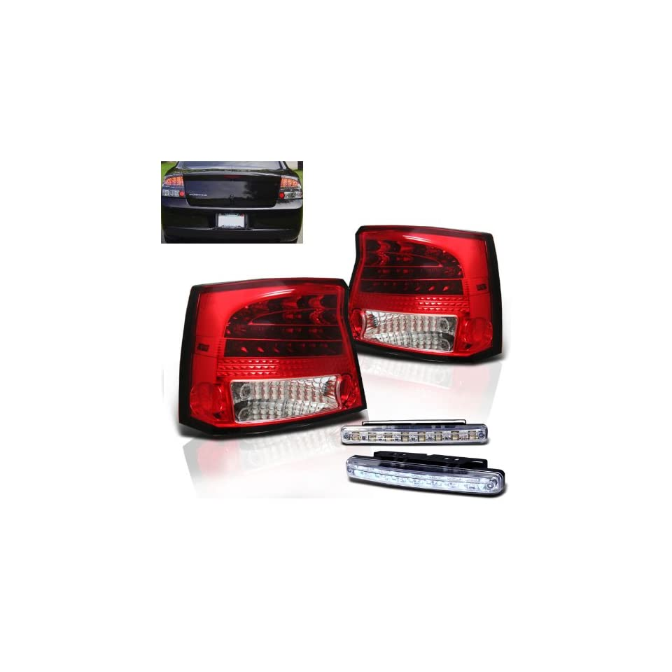 Eautolights 2009 2010 Dodge Charger Red Clear LED Tail Lights Brand