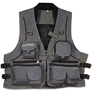stone creek fishing vest grey sage s