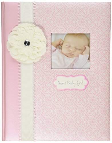 C.R. Gibson Baby Girl's First Memory Book (Bella) -- Newborn Baby Gift Set / Keepsake / Baby Journal