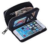 デカッ! iphone6 / 6 plus 大容量 手帳型 ケース お財布がわりに! (iphone6, 黒)