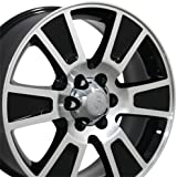 20-inch Fits Ford - F-150 Aftermarket Wheels - Black Machined Face 20x8.5 - Set of 4