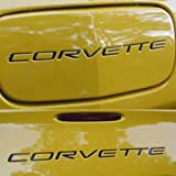 C5 CORVETTE 97 98 99 - 01 02 03 04 Front & Rear Bumper Vinyl Inserts Decals Letters - 37 Colors to choose from (Color
