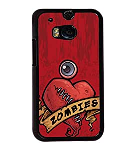Zombies 2D Hard Polycarbonate Designer Back Case Cover for HTC One M8 :: HTC M8 :: HTC One M8 Eye :: HTC One M8 Dual Sim :: HTC One M8s