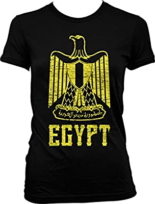 Egypt, Coat of Arms, Golden Eagle, Eagle of Saladin Juniors T-shirt, NOFO Clothing Co.
