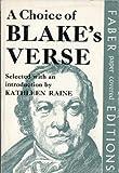 Choice of Blake's Verse (0571092683) by Raine, Kathleen