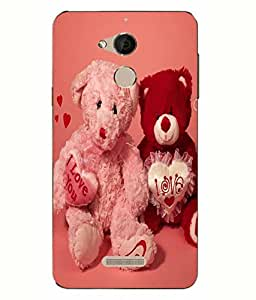 Case Cover Love Printed Pink Back Cover For Coolpad Note 5