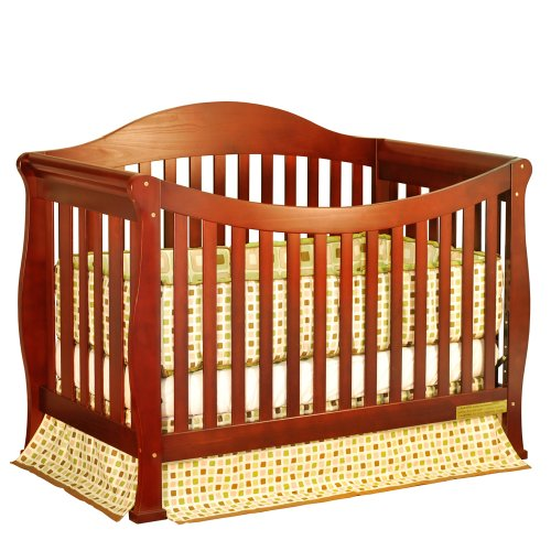 Athena Allie 3-In-1 Convertible Crib (Cherry)
