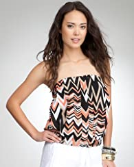Zigzag Hidden Placket Tube top