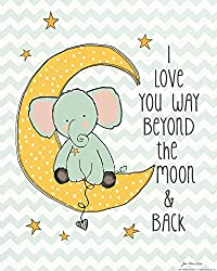 Heritage 1093 To the Moon Wall Decor, 10 x 8-Inch