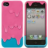 EFuture(TM) Hot Pink/Blue 3D Melt Ice Cream Hard Case Cover for iPhone5/5G +eFuture's nice Keyring