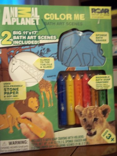 Animal Planet Color Me Bath Art Scenes