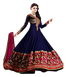 MEGHALYA Blue Color Womens Georgette Unstitched Dress Material