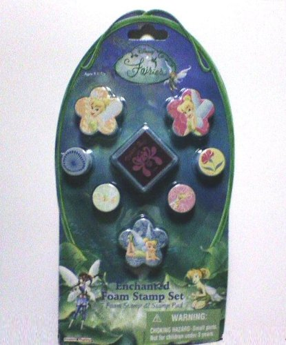 Disney Fairies Enchanted Foam Stamp Set (7 Foam Stamps and Stamp Pad)