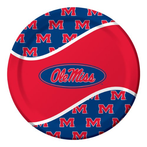 Creative Converting University of Mississippi Rebels Dinner Paper Plates (8 Count)